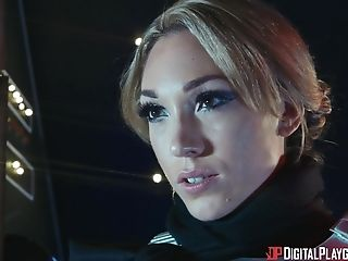 Adriana Chechik and Lily Labeau hook up for a spacey lesbian fuck