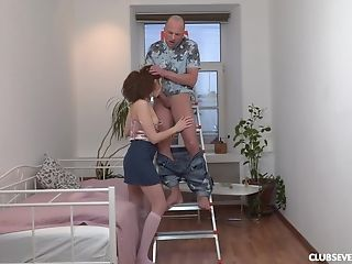 Teenager spreads dick for her step brother to enjoy