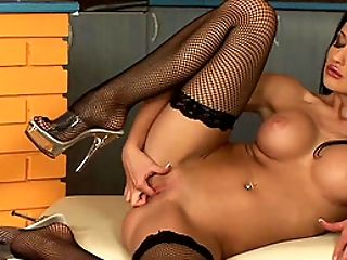 Arousing masturbating session with the lustful Aletta Ocean