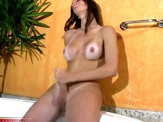 Big Ass, Big Cock, Handjob, HD, Jacuzzi, Jerking, Masturbation, Shemale, Teen, Tranny,