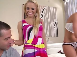 Gorgeous blondes Vanda Lust and Kiara Lord want to feel a dick