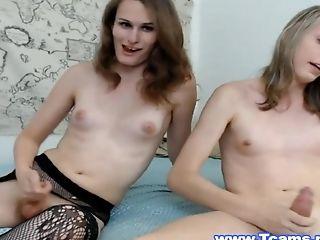 Hot Tgirl Cum Inside her Tgirl Mate Mouth