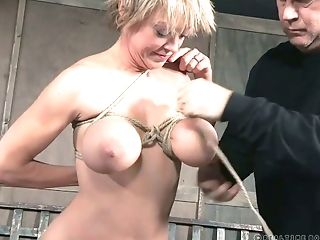 Mature busty bitch Dee Williams gets punished in the basement