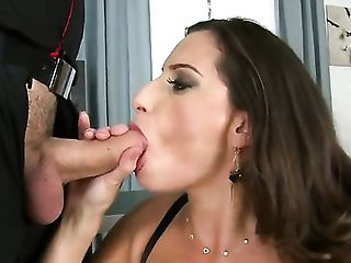 James Brossman buries his rock hard snake in adorable Sensual Janes mouth