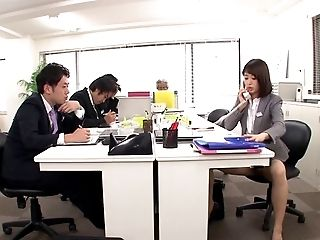 Asian, Clothed Sex, Couple, Doggystyle, Ethnic, Hardcore, Japanese, Office, Reality, Riding,