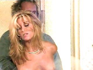 Grabbing a naked blonde bimbo to waste her big clit