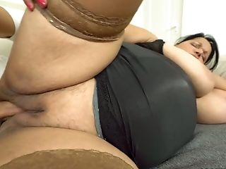 BBW Bubi gets her pussy licked and fucked by one young dude