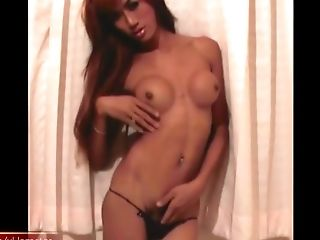 Tranny is dancing and pulling cock getting inside my pants