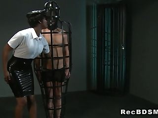 Masked sub fucks ebony mistress ethnic submission