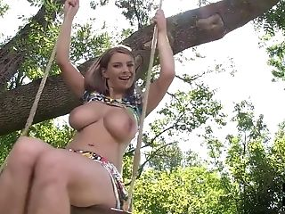 Big Tits, Bold, Czech, Game, HD, Kristine Crystalis, Natural Tits, Outdoor, Solo,