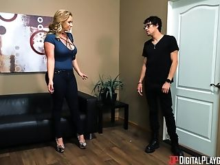 Big breasted Eva Notty loves bouncing on a fellow's boner