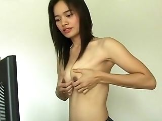 Horny Homemade movie with Skinny, Asian scenes