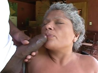 Mature babe Marcela knows how to please a big black cock