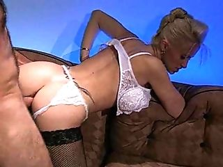 Vivacious dick-rider Rebecca Wild looking tempting in sexy lingerie