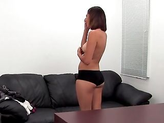 Amateur, Babe, Big Ass, Brunette, Casting, Couch, Cute, Desk, From Behind, Horny,