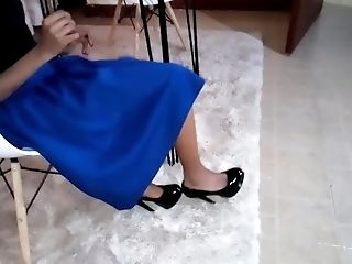 Naughty Wife Catching Up On Work At Home