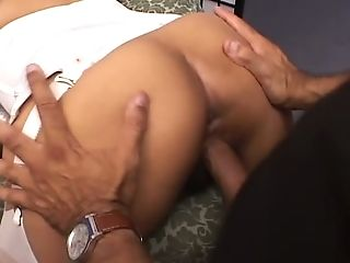 Damn good exotic cowgirl with juicy rack Melody Ann jumps on sloppy cock