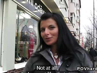 Amateur babe pov fucking outdoor in public