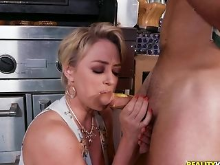 Mature Dee Williams feasts on a couple of massive dongs