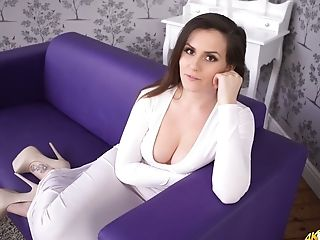 Seductive brunette Charlie Rose is eager for your attention and admiration