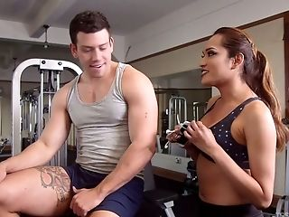 Raunchy ladyboy Jessica Fox fucks anus of one kinky dude