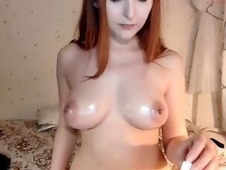 Long haired redhead that is Euro enjoys her bare bare hoote