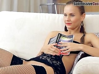 Russian damsel in high heel coping up with hardcore throbbing while moaning