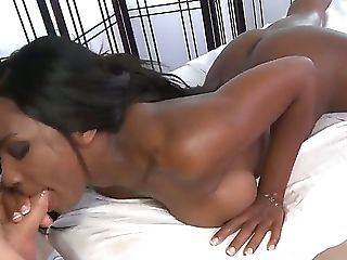 Lucky Ryan Mclane gets his pecker blown by Persia Black a very hot ebony with a pretty mouth