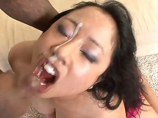 Thick Asian beauty Kya Tropic is hungry for cock and she is a size queen