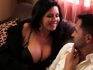 Dirty cougar seducing a young fellow