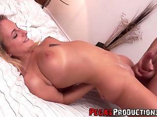 Dude picks up and fucks pretty hot Canadian chick Jemma Valentine