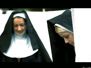 Lovely and sinful blonde nun Charlotte Stokely is ready to get her slit licked